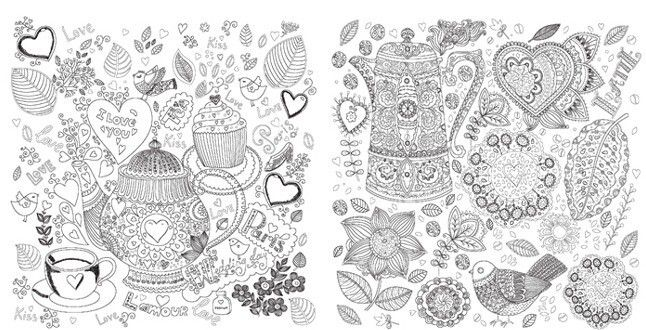 2015 Hot Anti Stress Inky Treasure Flowers Coloring Books