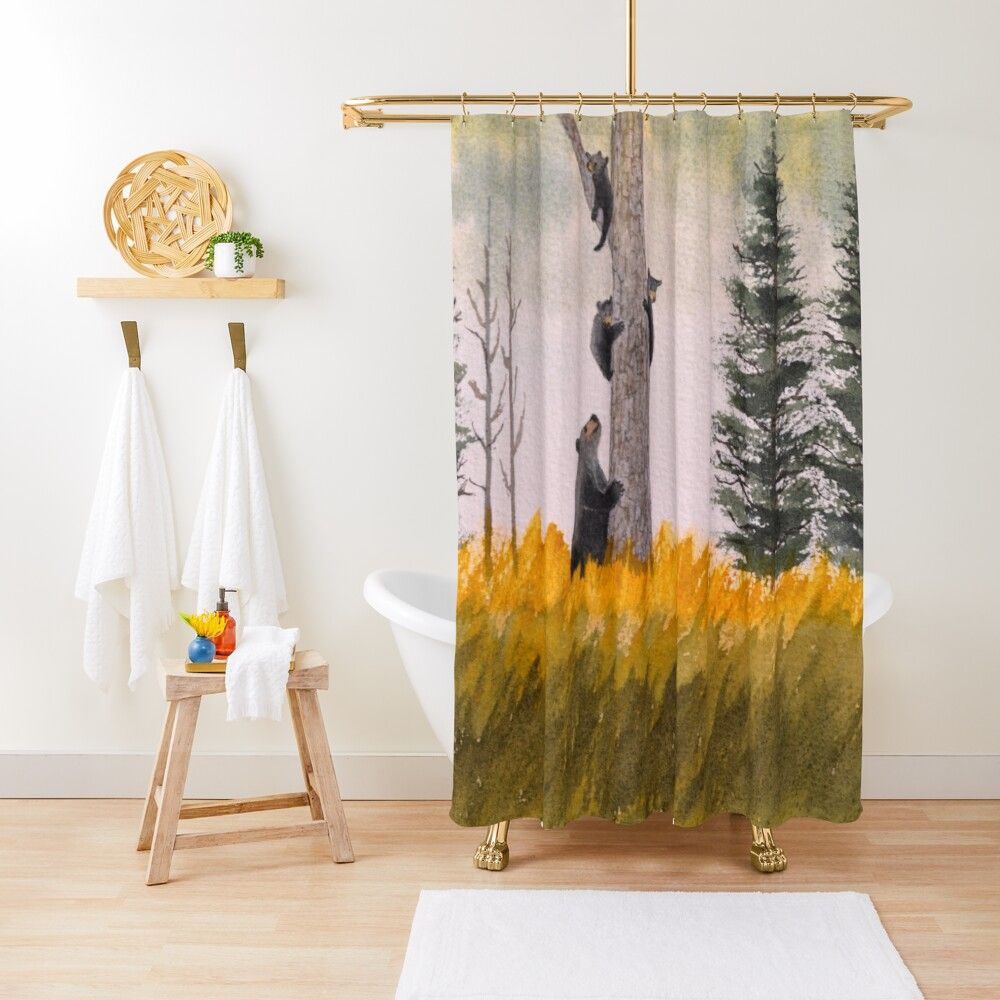 Bears In The Blue Ridge Mountains Shower Curtain By Bill Holkham