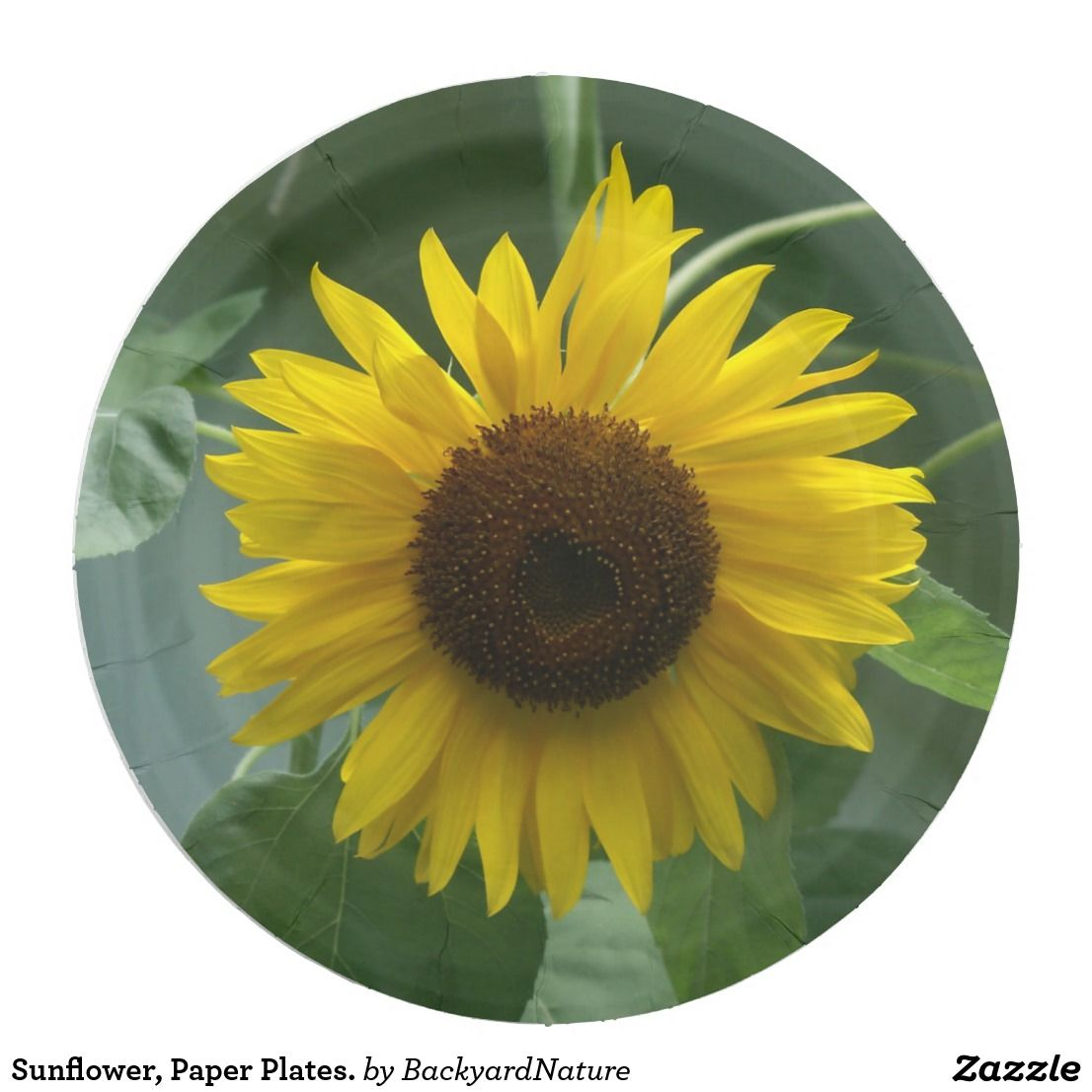 Sunflower, Paper Plates. Paper Plate