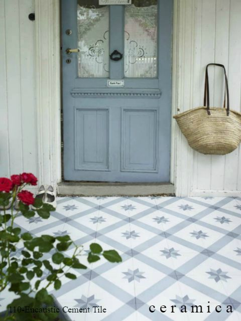 Gorgeous encaustic cement tile available at Ceramica, Scottsdale. info@ceramica.us
