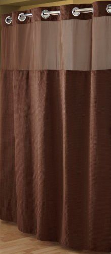 Hookless Shower Curtain And Liner Set Chocolate By Hookless Http Www Amazon Com Dp B0027is7pi Fabric Shower