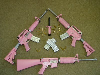 pink weapons  for the fashionably feminine terrorista   In the pink     pink weapons  for the fashionably feminine terrorista