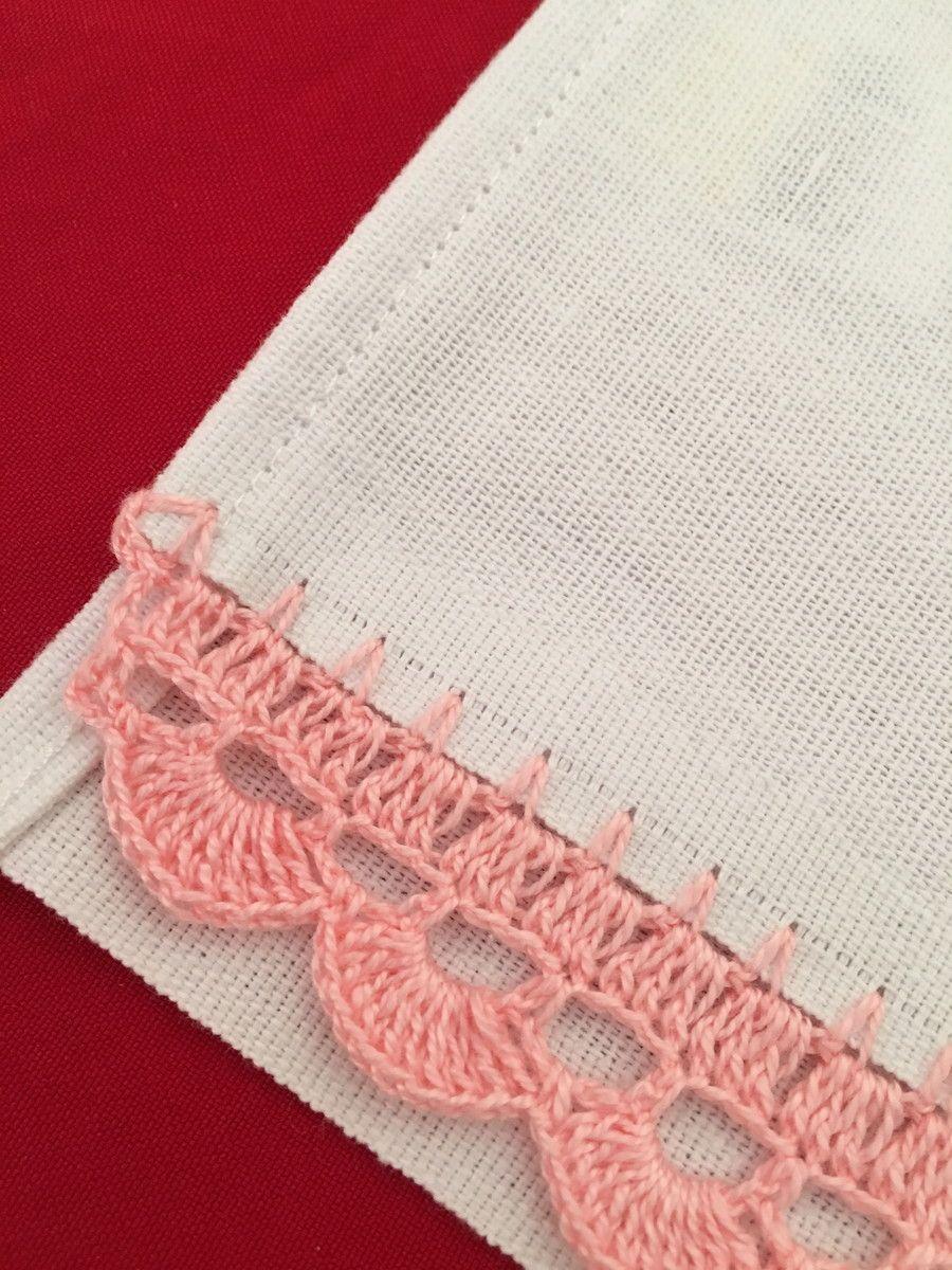 Pano De Prato Com Croche Com Imagens Bicos De Croche Simples