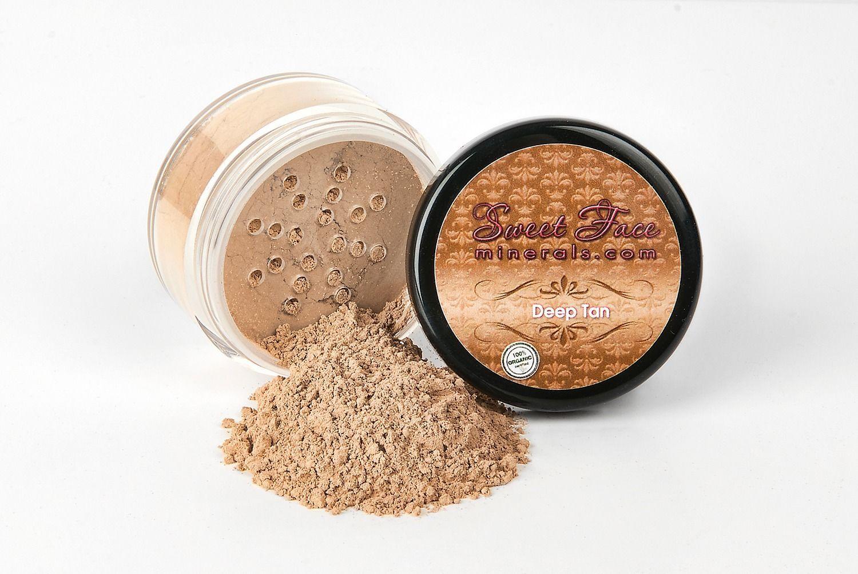 Dark Tan Foundation Mineral Makeup Jar Matte Sealed Bare