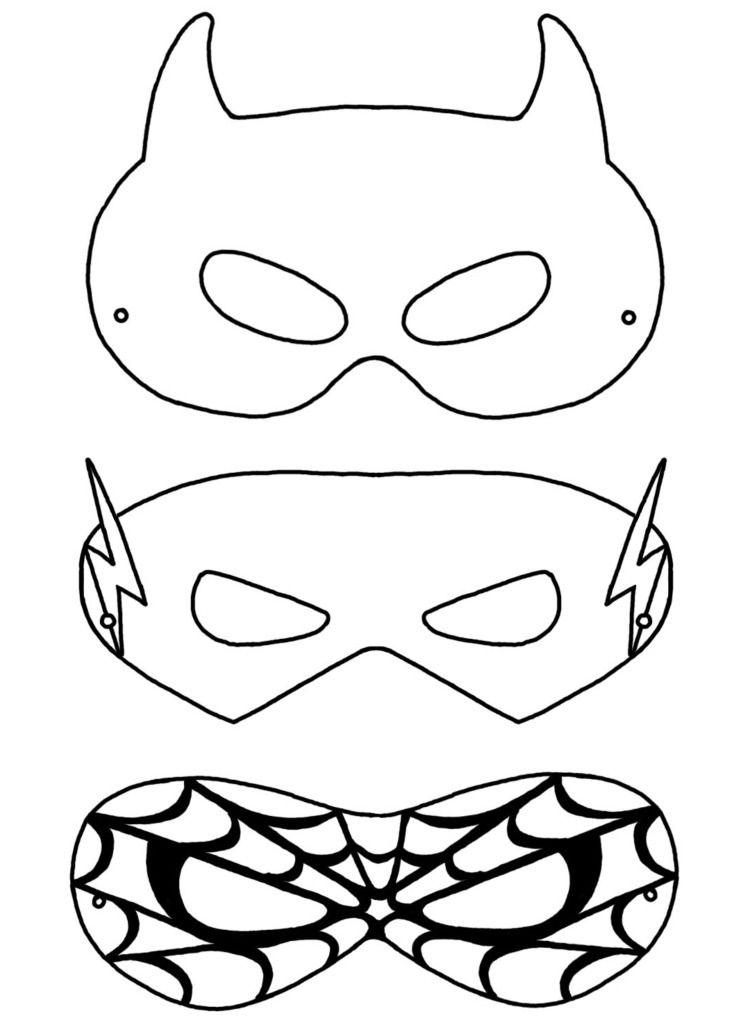 Kinder Fasching Maske - 22 Ideen zum Basteln & Ausdrucken ...