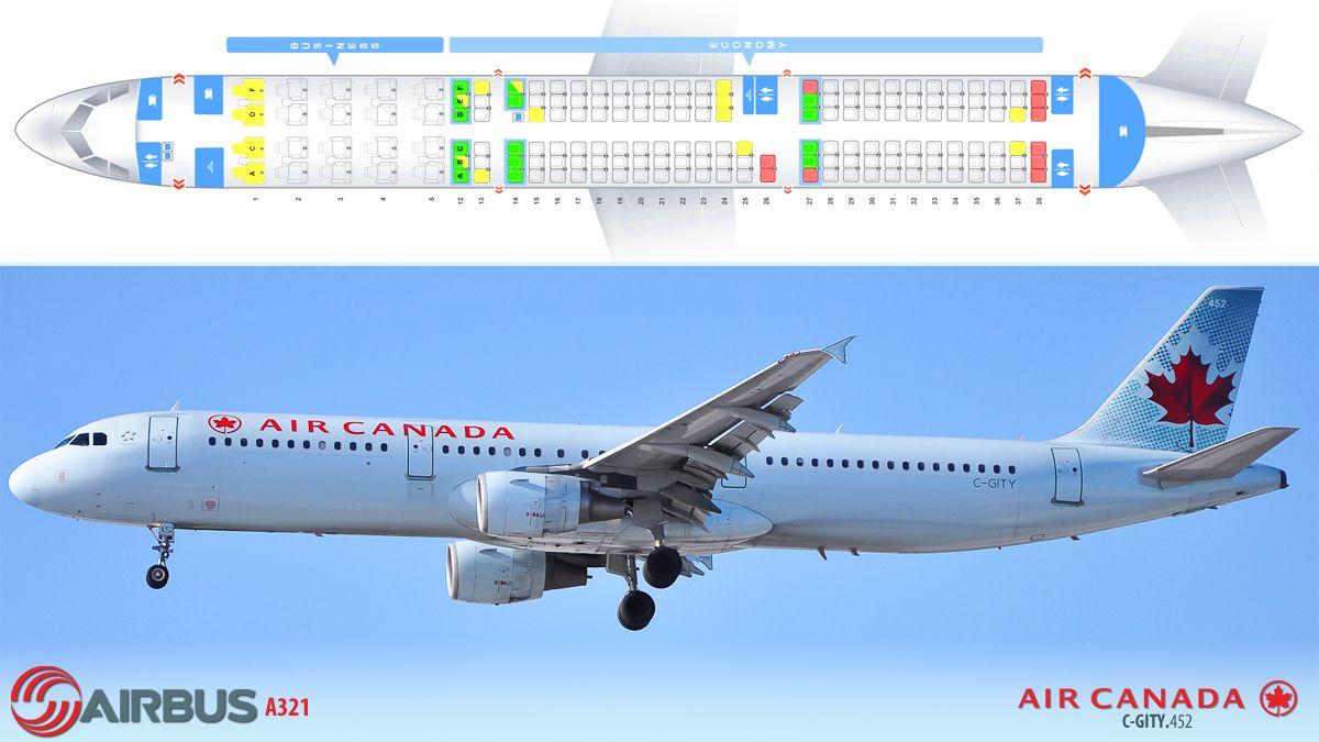Air Canada Airbus A321 Airbus Air Airline Seats