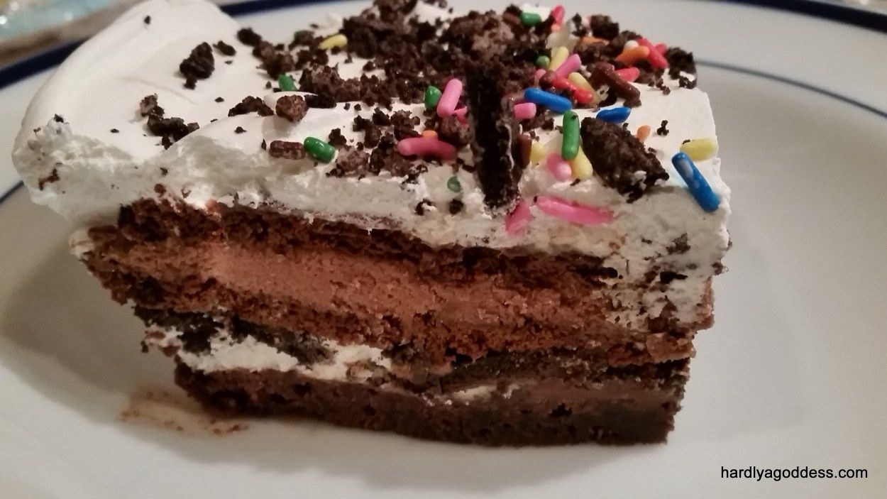 Easy fast brownie ice cream cake recipe cake
