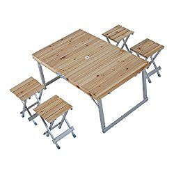 Outsunny Height Adjustable Folding Outdoor Picnic Table W Seats - Cost of wooden picnic table
