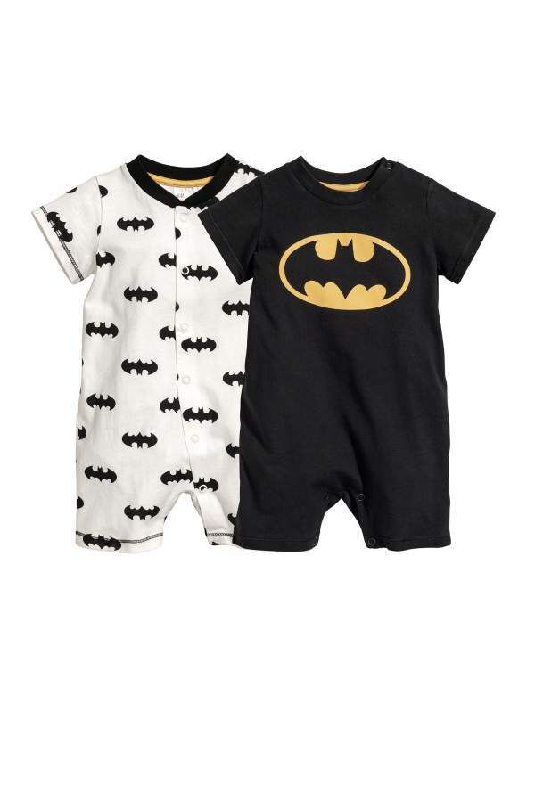 c45e1f190eb3 H M H   M - 2-pack Jumpsuits - Black Batman - Kids