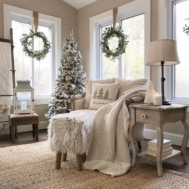 42 Neutral Winter Decoration Ideas For Your Home -   21 neutral winter decor