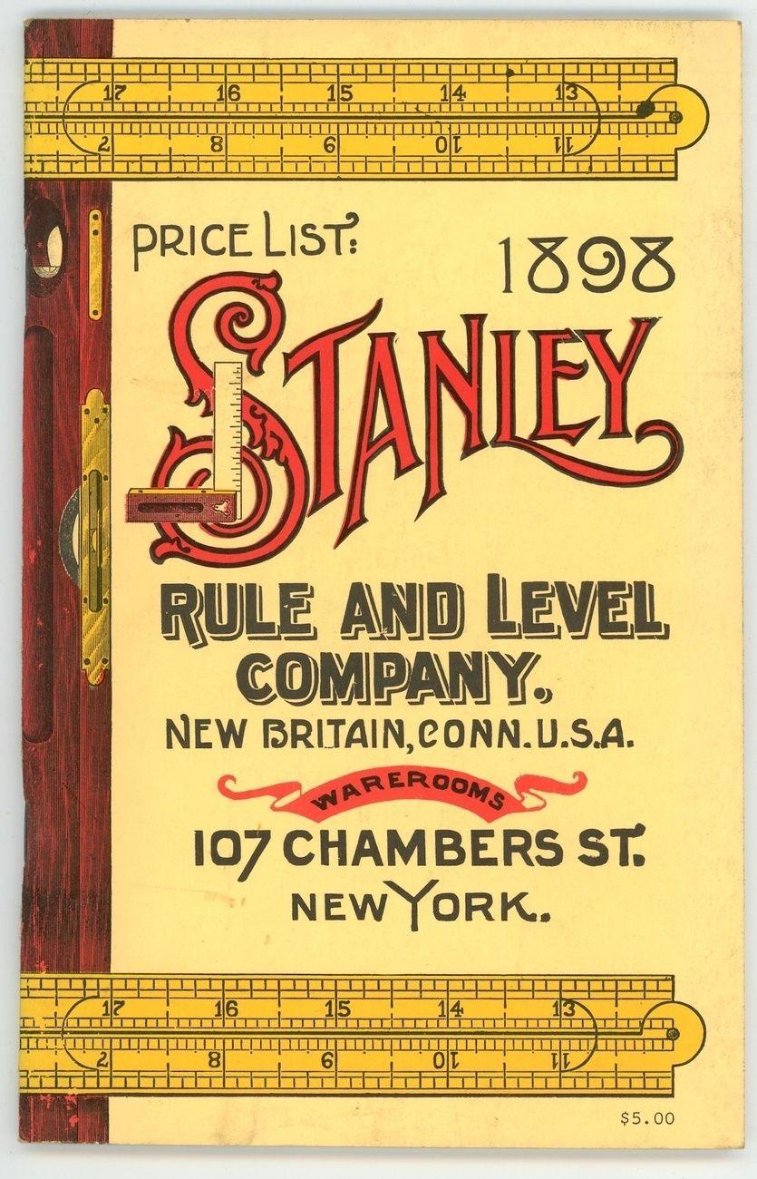 1898 Stanley Rule Co tool catalog antique vintage reprint antique