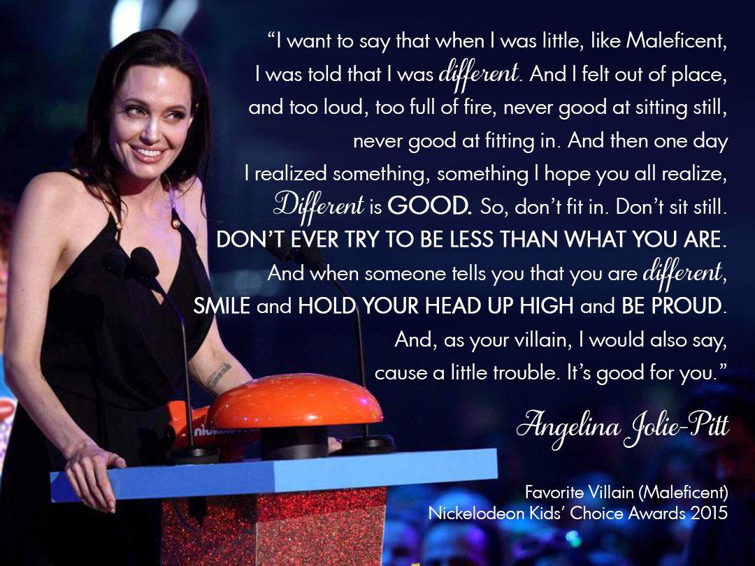 Angelina joliepitts inspiring acceptance speech