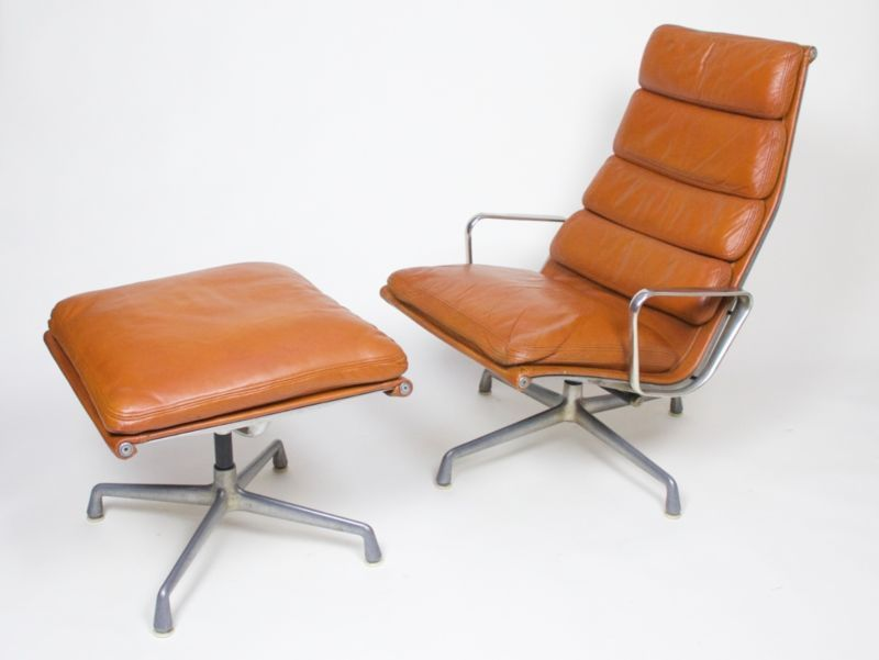 Rare 1970 S Eames Herman Miller Soft Pad Lounge Chair With Ottoman