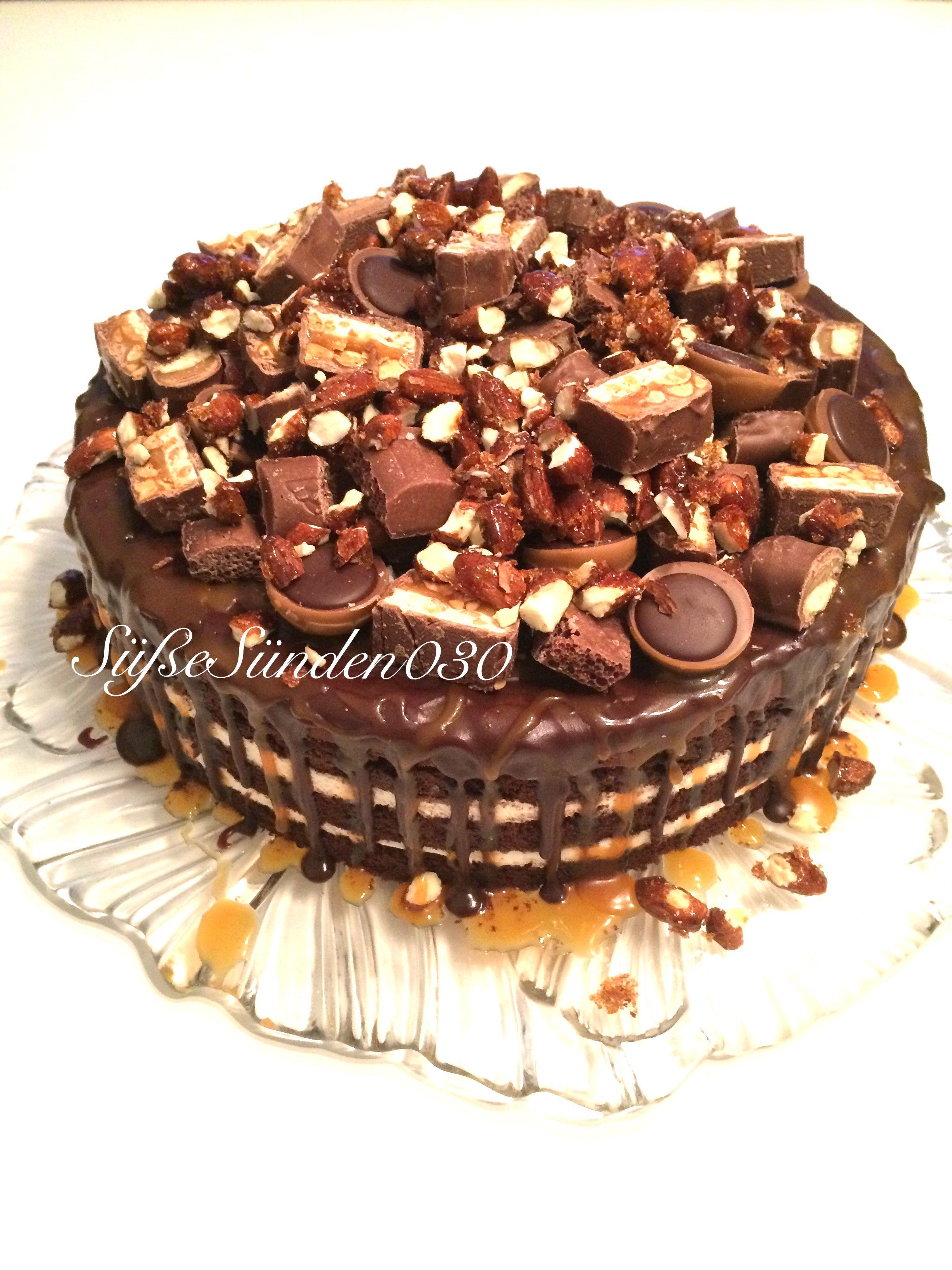 Schokoladentorte mit Karamell schokoladig lecker süße Sünden
