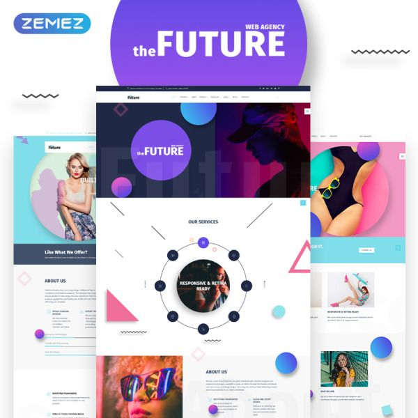 The Future Web Design Multipurpose Html5 Website Template Website Template Free Graphic Design Software Photography Website Templates