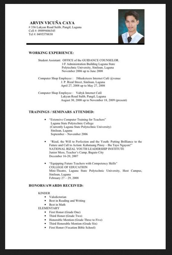 Perfect Job Resume Format A Perfect Resume Professional Resume Writing Service Philippines Resume For Best Resume Format Sample Resume Format Job Resume Format