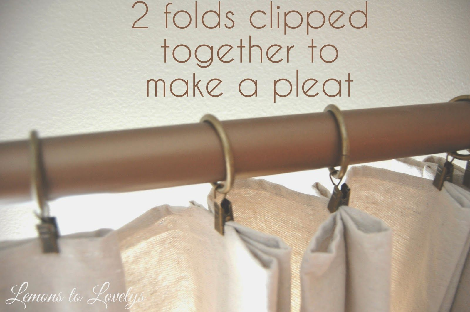 Lemons to Lovelys: Easy No Sew Drop Cloth Curtains WITH PLEATS ...