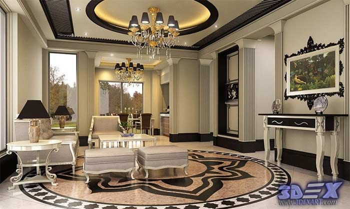 Art Deco Style Art Deco Interior Design And Home Decor With False Adorable Best Ceiling Design Living Room Design Inspiration