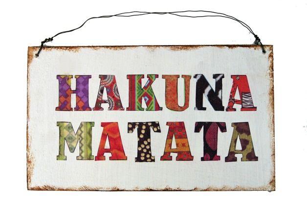 dekoschild hakuna matata türschild afrika geschenkidee für