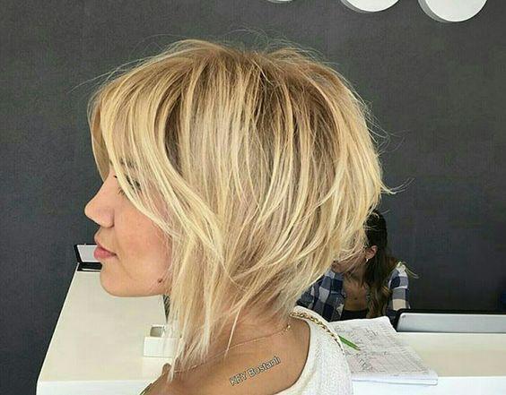 Kurzhaarige Frisuren für feines Haar #feines #frisuren #kurzhaarige