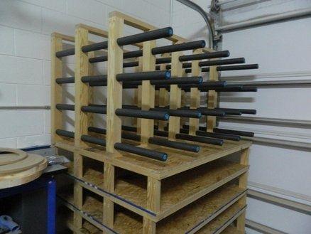 DIY Organize Workshop Wood Storage