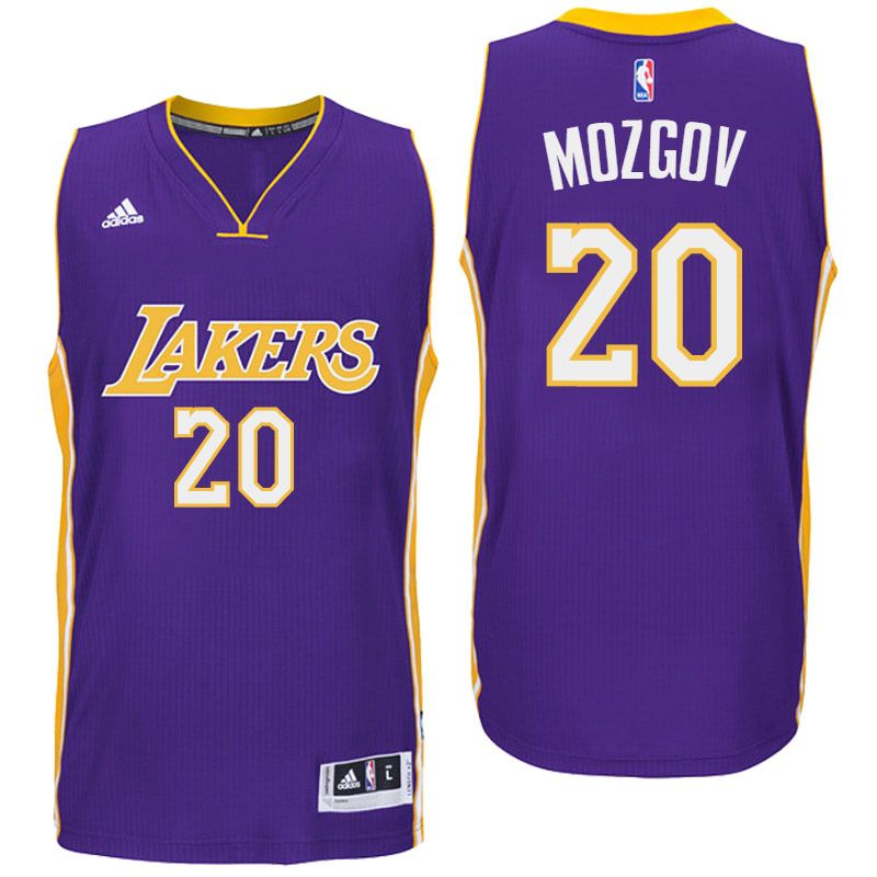 the best attitude 726d3 79e88 Los Angeles Lakers #20 Timofey Mozgov 2016 Road Purple New ...