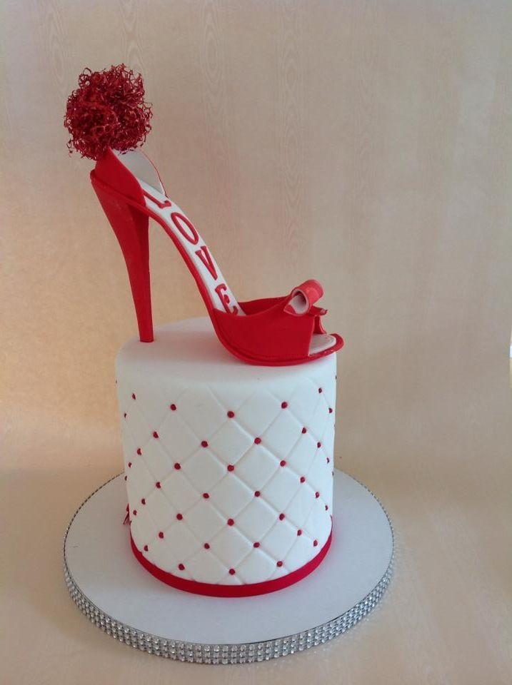 High Heel Stiletto Shoe Cake Topper Made Using The Heel Mould The