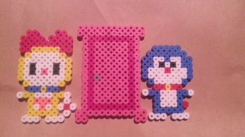 Doraemon Perler Beads アイロンビーズ 立体 アイロンビーズ アクアビーズ 図案
