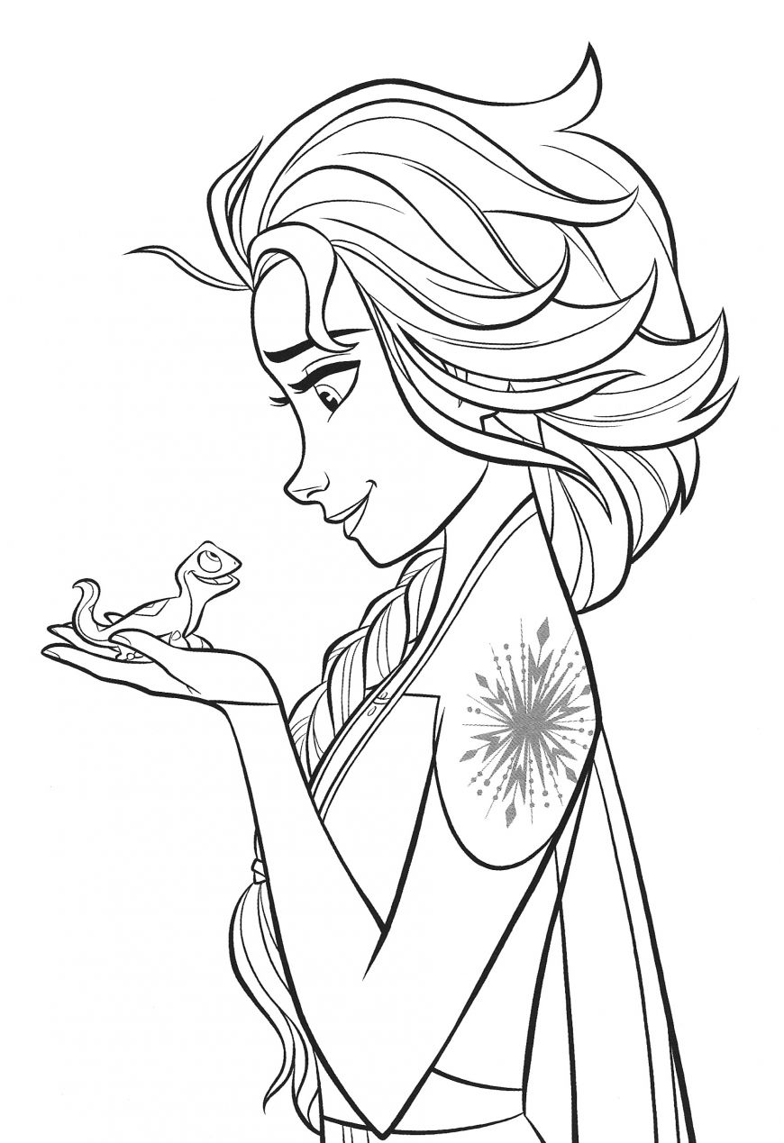 New Frozen 2 Coloring Pages With Elsa En 2020 Dibujos Infancia