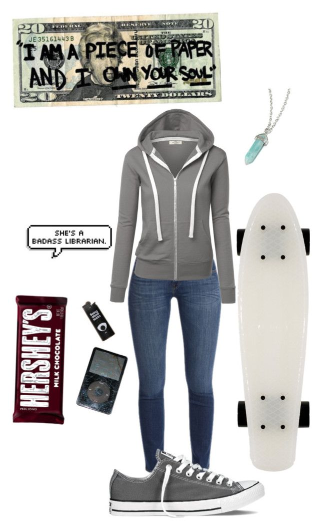 """Untitled #573"" by spacemermaid13 ❤ liked on Polyvore featuring Converse and Hershey's"