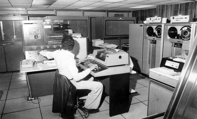 Centro de Computación del CSE, actual CNE, usada en las Elecciones Municipales 1979. Foto: Tomás Lugo/Cadena Capriles