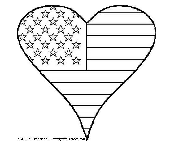 20 Free 4th Of July Printable Games And Decor Heart Coloring Pages Flag Coloring Pages Veterans Day Coloring Page