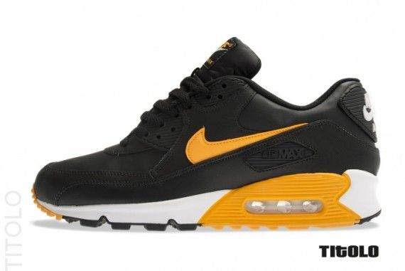 reduced nike air max 90 essential black canyon gold white