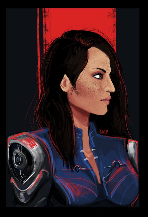 Ash Wednesday Fanart Of Ashley Williams By Dreadwolfed Ashley Williams Mass Effect Mass Effect Art Mass Effect Characters