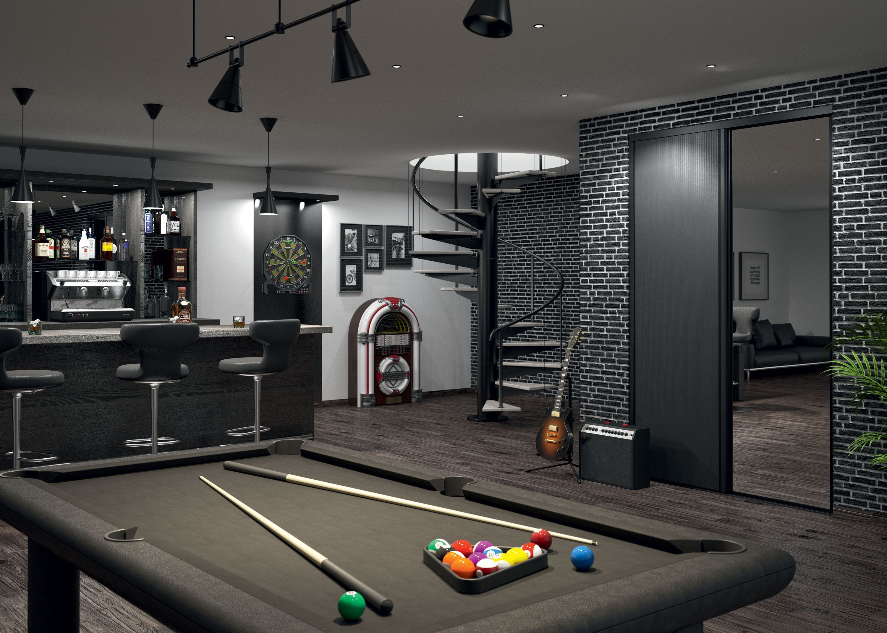 Gallery Of The Best Man Cave Ideas Get Inspiration For Creating Sports Themed Game Room Home Bar Garage Backyard She Game Room Man Room Home Entertainment