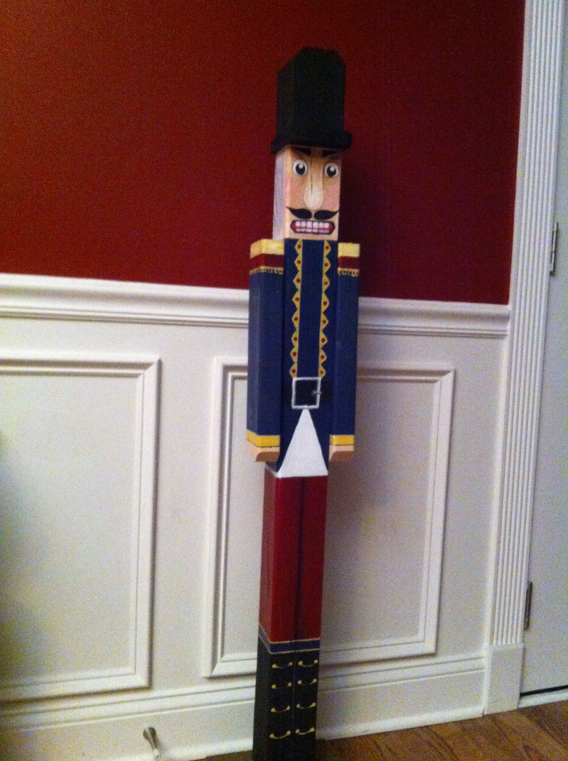 4 ft nutcracker made from 4x4 post diy pinterest 4x4 for 4 foot nutcracker decoration