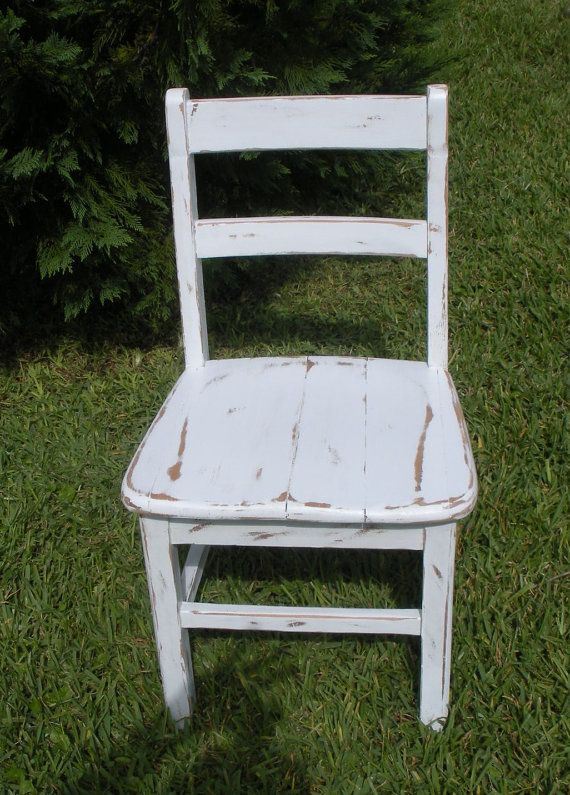 VINTAGE Chair - Painted and Distressed Chair - 1950's ...