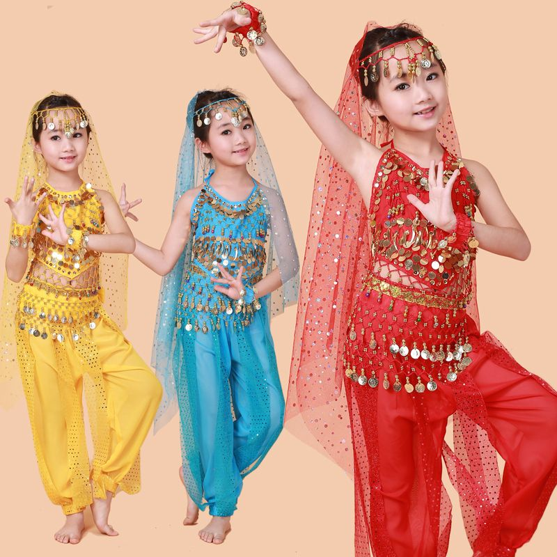 Hot Selling! Belly Dance Performance Bollywood Indian Child Costume Indian  Dance Costumes For Kids(China (Mainland)) f6f812f6a520