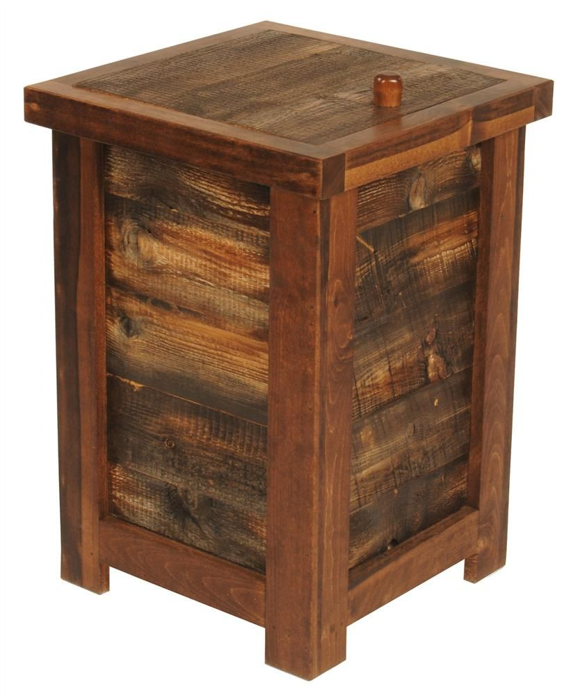 Rustic wood clothes hamper pallet furniture pinterest rustic wood hamper and woods - Wooden hampers for laundry ...