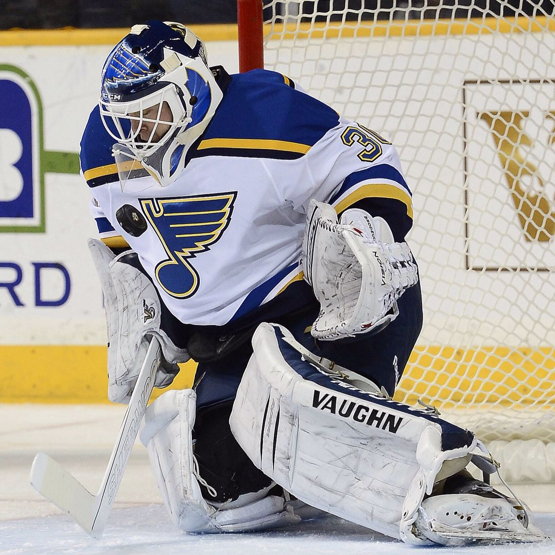 san francisco 36ada 640a7 Here's Martin Brodeur of the St. Louis Blues in his V6 ...