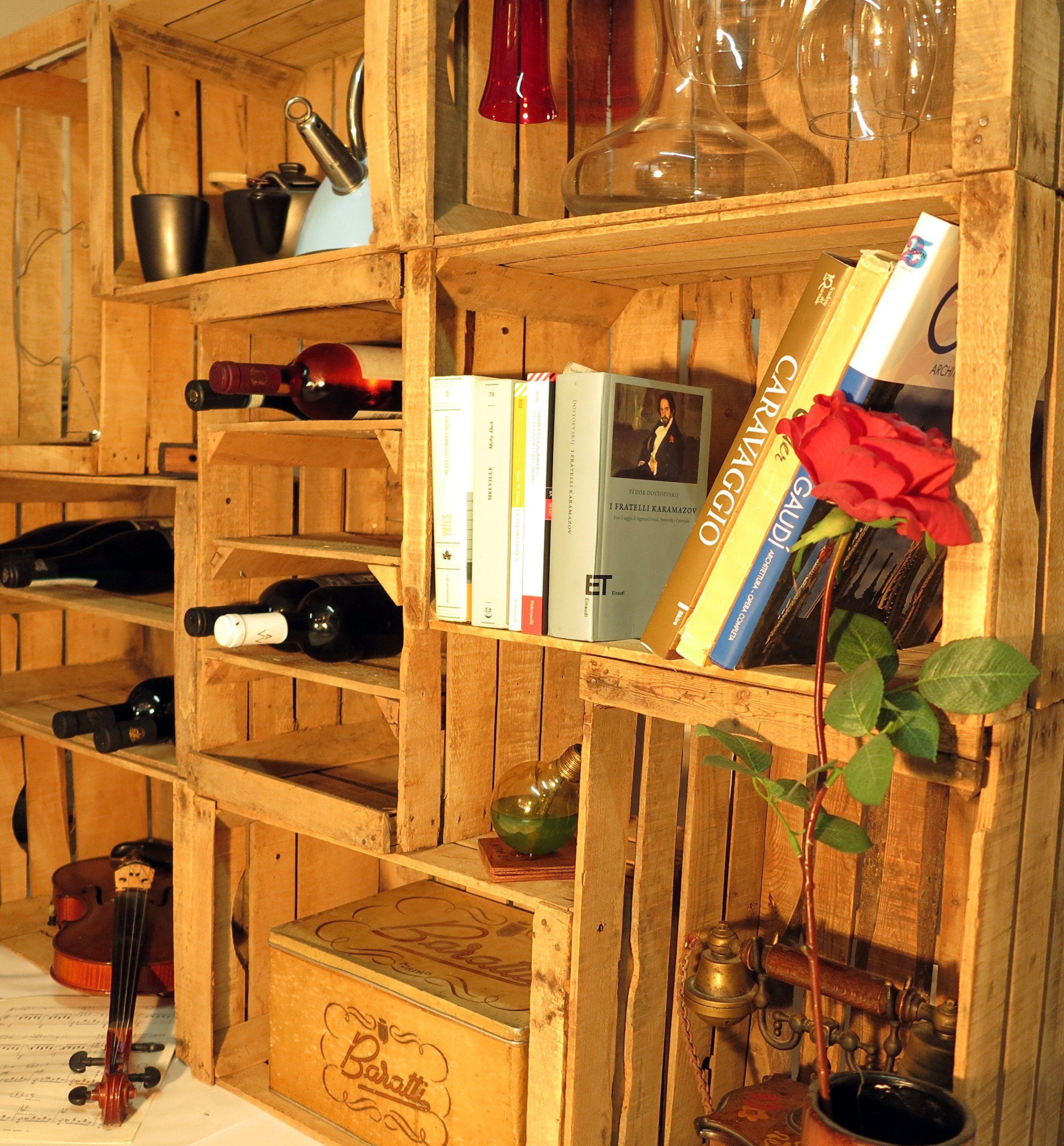 Cassette Della Frutta Legno cassette della frutta,portabottiglie,libreria,arredo wine