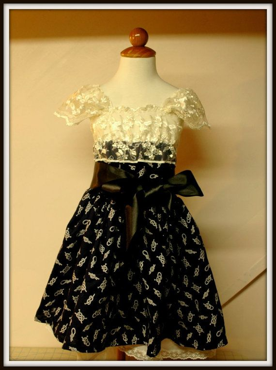 Black flower girl dress for a wedding or by juliettaboutique, $65.00