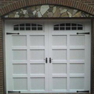 Steel Garage Door With PVC Trim Made By American Garage Door Systems, Inc.  Charlotte