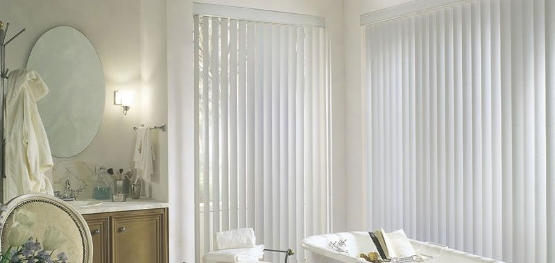 """3 1/2"""" Premium Textured Vertical Blinds Custom Blinds and Shades By SelectBlinds.com"""