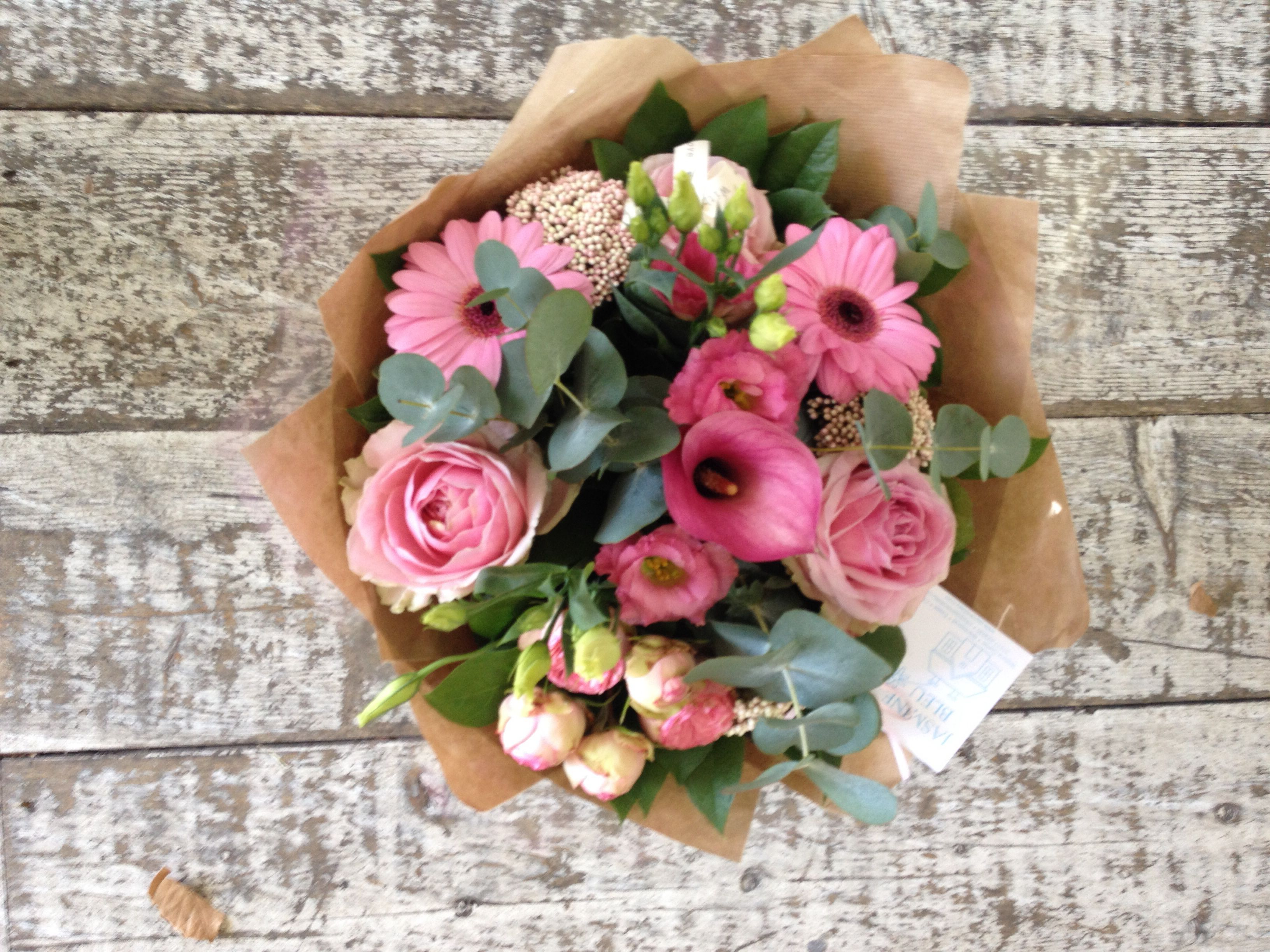 Pink gift bouquet calla lily pinky eye gerberas rice flower pink gift bouquet calla lily pinky eye gerberas rice flower lisianthus mightylinksfo