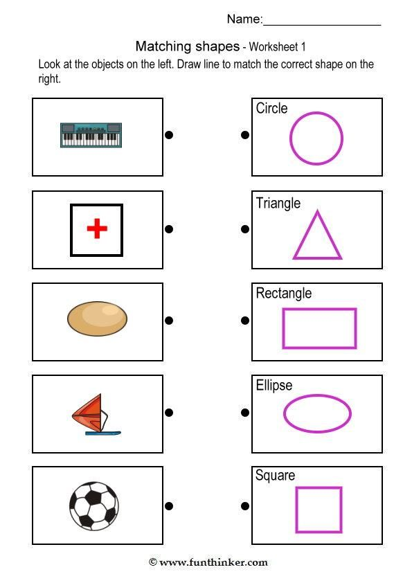 shape worksheet for kindergarten Brandonbriceus – Kindergarten Shapes Worksheet
