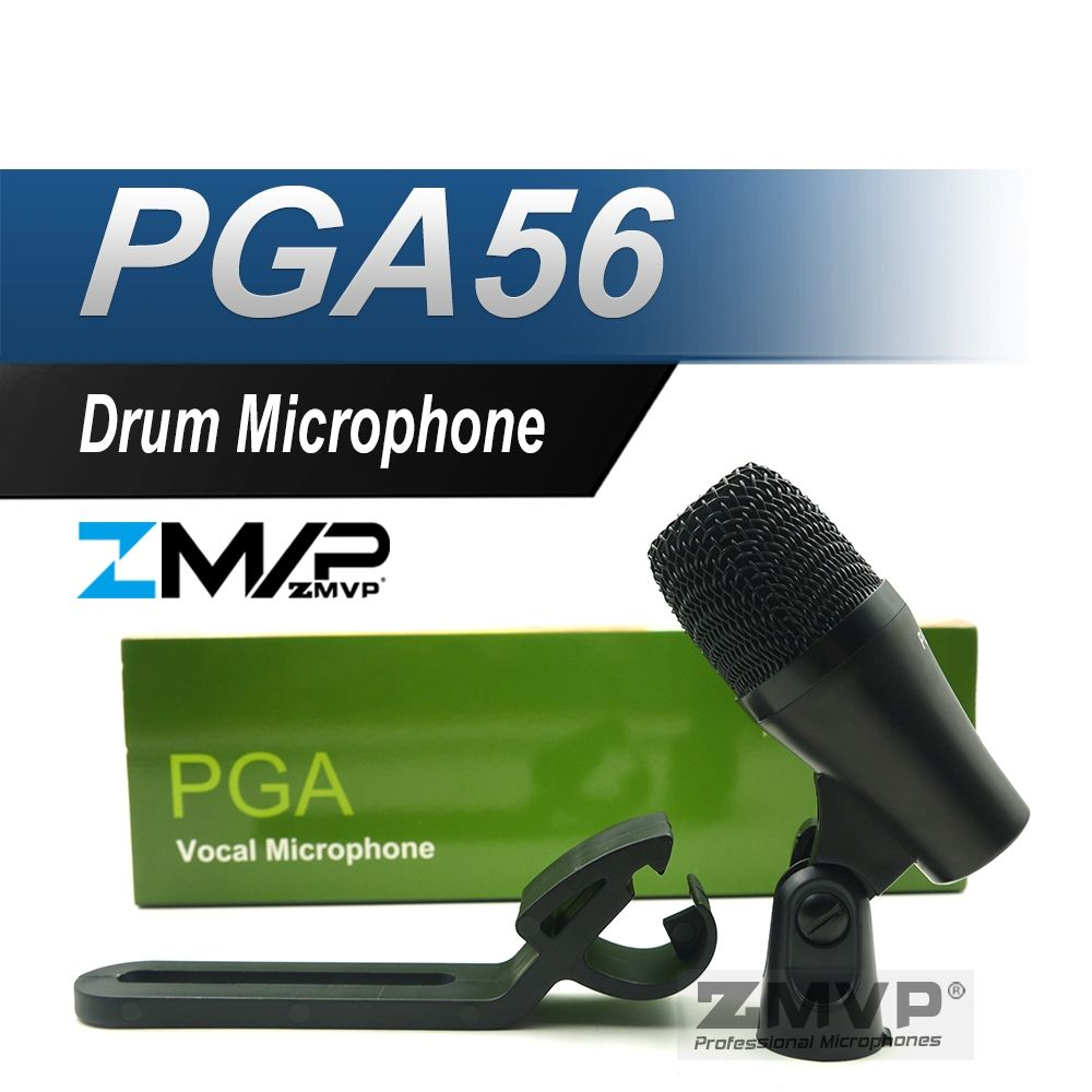 Pga56 Super Cardioid Dynamic Pga 56 Instrument Percussion Microphone Mic For Bass Drum Toms Snare Drums Drum And Bass Drum Instrument Microphone