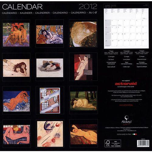 Et L'or De Leur Corps 2012 Wall Calendar