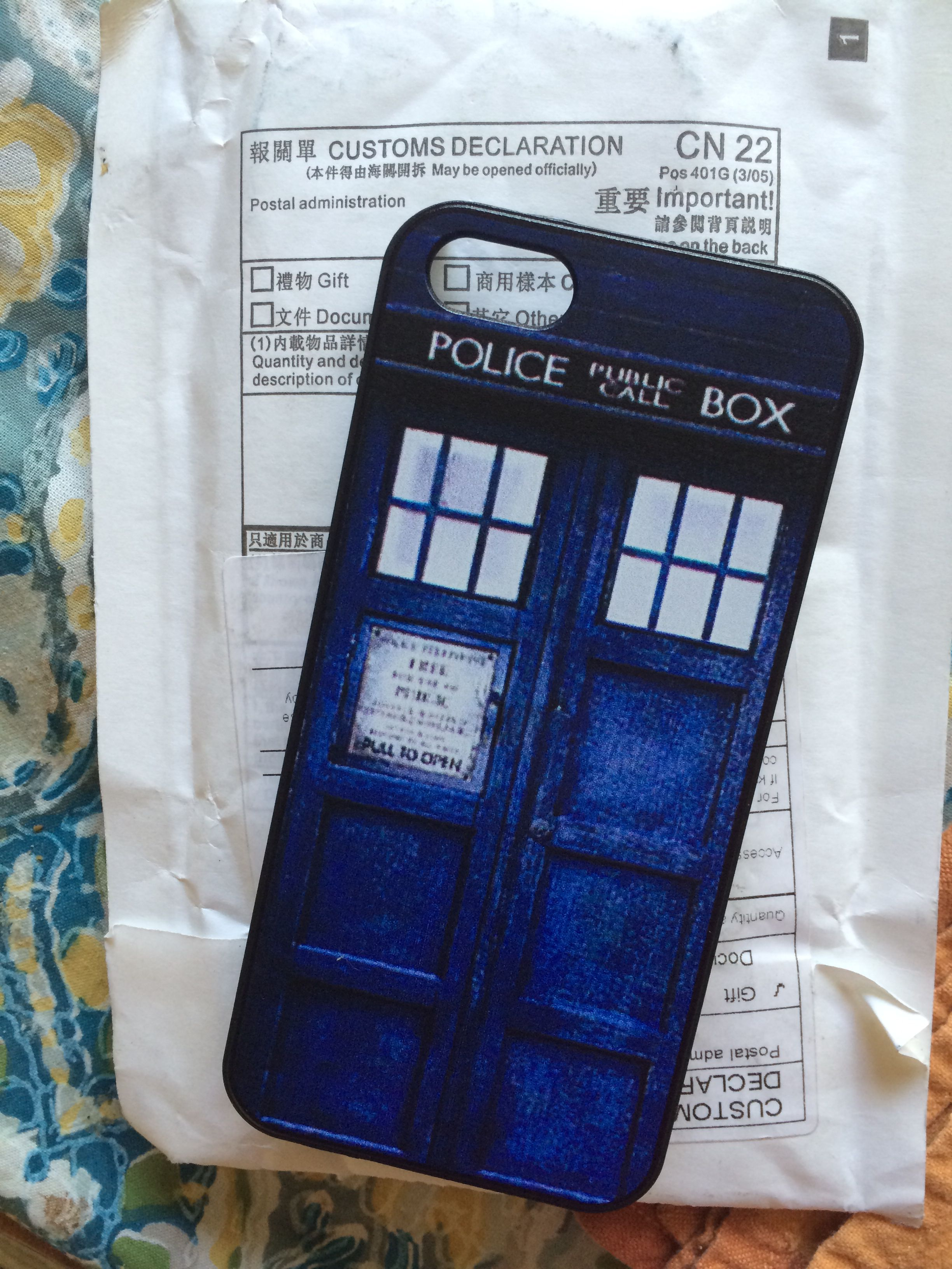 Today's mail = maximum iPhone/Doctor Who geekoutability