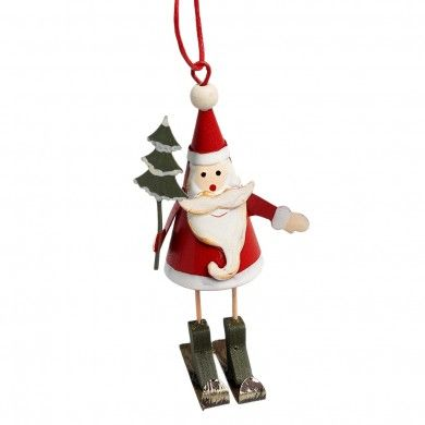 Skiing Santa Christmas Decoration It\u0027s the most wonderful time of - christmas decorations sale